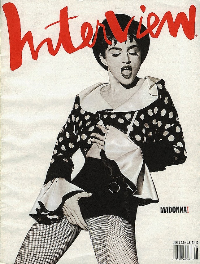 Madonna on the cover of 'Interview'