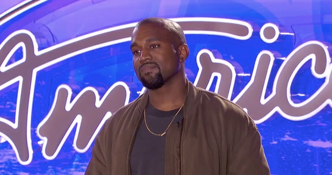 Kanye West appearing on American Idol Season 15
