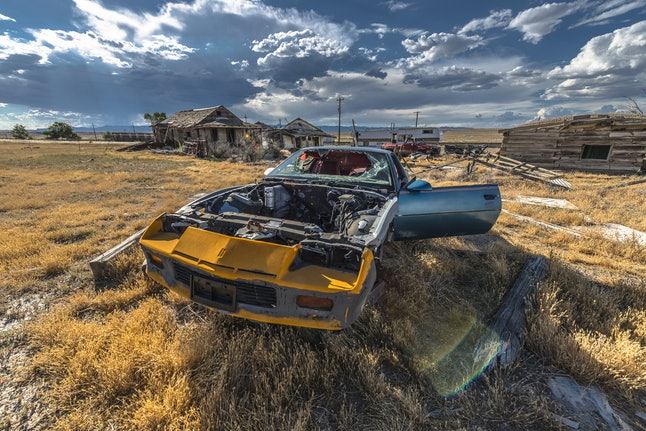 Beware of spirits from days gone by when you pass through this ghost town in Cisco.