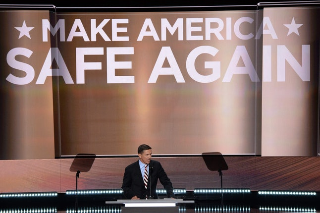 Flynn spoke at the Republican National Convention in July.