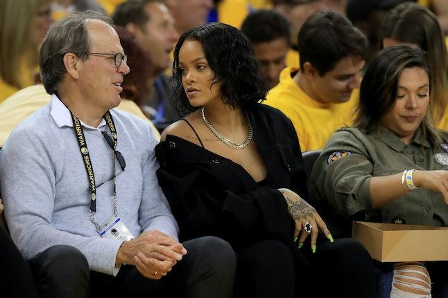 Rihanna at the 2017 NBA Finals in Oakland, California