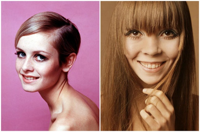 Models Twiggy (left) and Penelope Tree in 1967