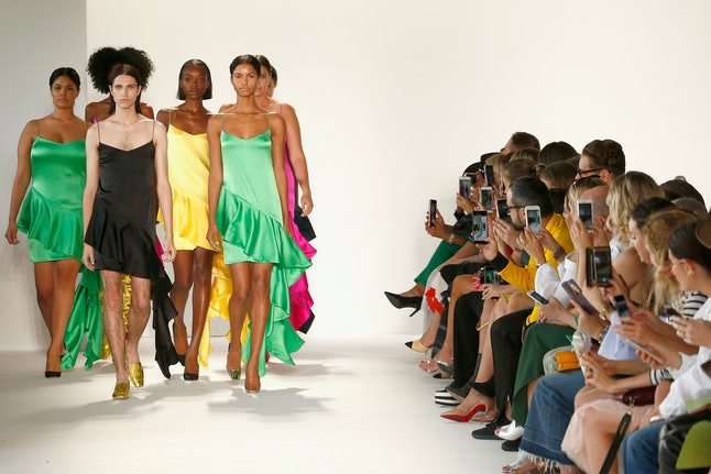 A view of the Christian Siriano runway show