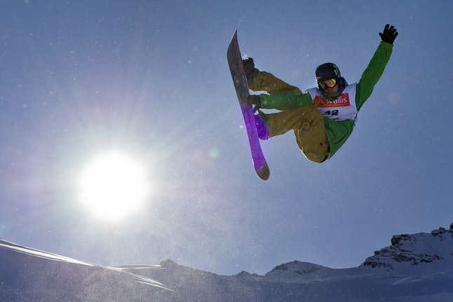 Kevin Pearce competes for the U.S. at the men's half-pipe Snowboarding FIS World Cup final event on November 5, 2009 — weeks before sustaining a traumatic brain injury while training for the Vancouver Olympics.