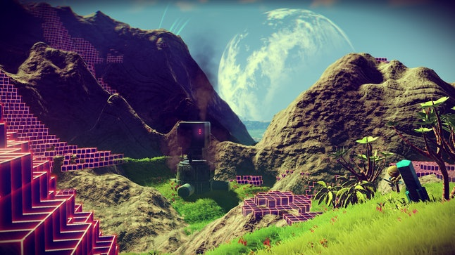 The Foundation Update for 'No Man's Sky' includes planets that are more aesthetically pleasing.