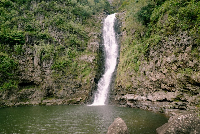 Gorgeous waterfalls are just one of the geographic attractions Molokai offers.