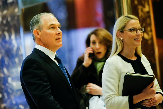Oklahoma Attorney General Scott Pruitt met with President-elect Donald Trump on Nov. 28 in Trump Tower.