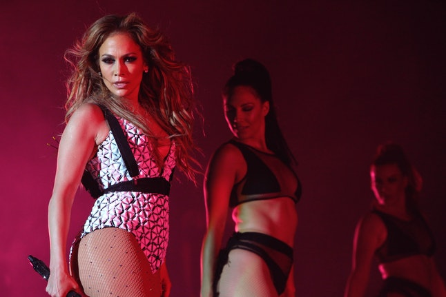 Jennifer Lopez performing at the American Music Awards.