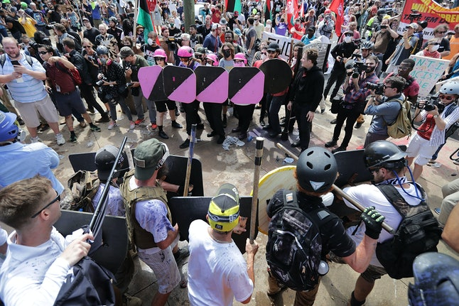 """In Charlottesville, the """"Unite the Right"""" rally turned violent before it even began."""