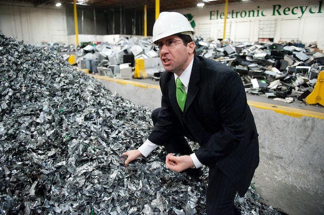 John Shegerian, CEO of Electronic Recyclers International in Fresno, California.