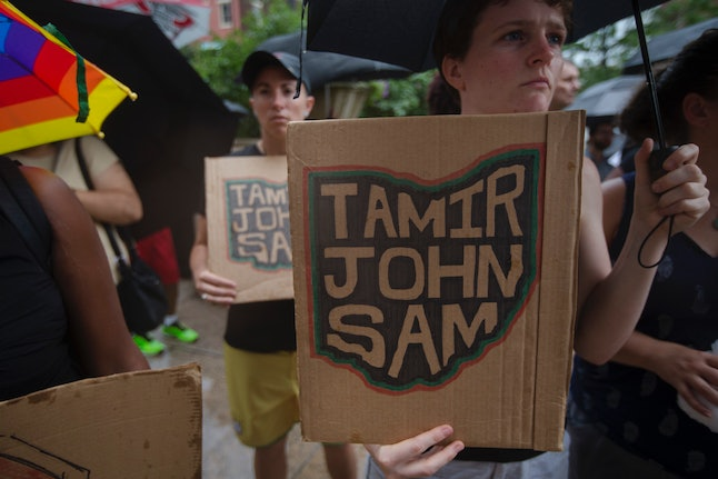 Protesters outside the Hamilton County courthouse, Jul. 29, 2015.
