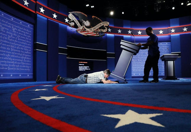 Preparations for the first presidential debate are almost complete.
