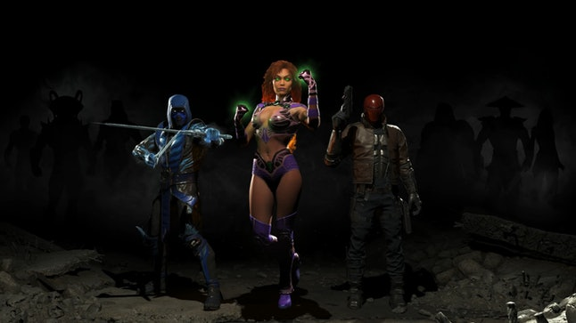 The DLC tease at the end of the 'Injustice 2' Fighter Pack 1 trailer.