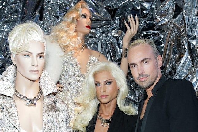 From left: Phillipe and David Blond, at their mannequin exhibition.