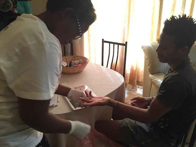 Starting the HIV test