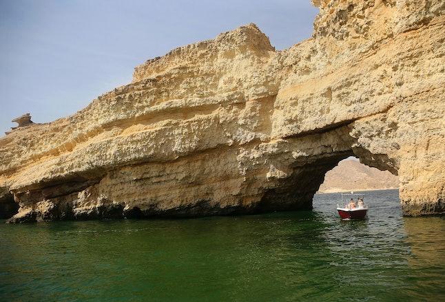 The algae-filled Gulf of Oman