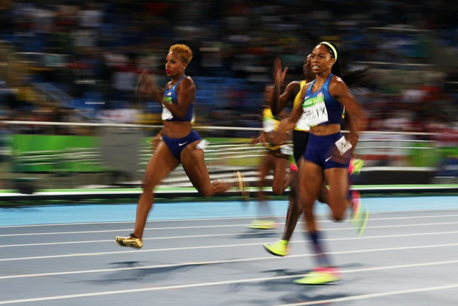 Silver medalist Allyson Felix of the United States competes in the Women's 400m Final at the Rio 2016 Olympic Games on Monday.