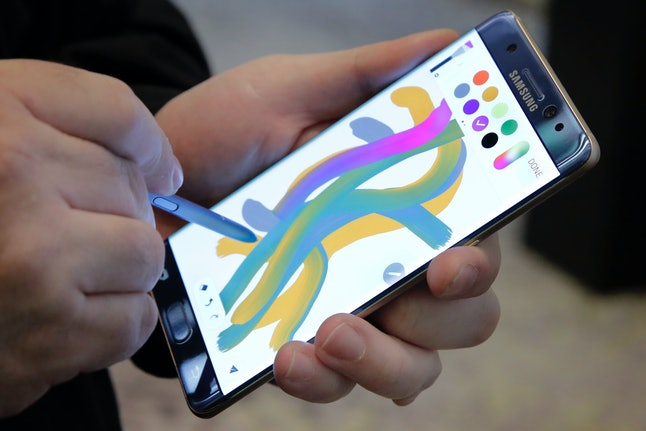 The Samsung Galaxy Note 7 also comes equipped with a stylus.