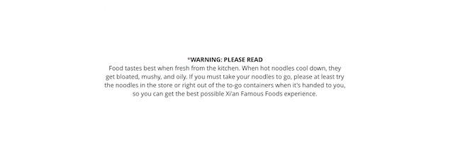 Xian's famous warning