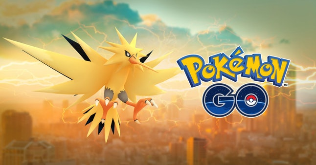 Even the official banner art shows a Zapdos with a brighter coloration.