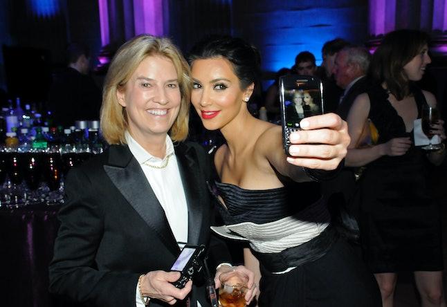 Kim Kardashian West snaps a selfie with Greta Van Susteren at the correspondents' dinner.