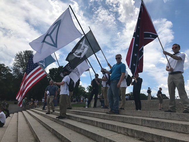 White nationalists mixed with trolls, militiamen and confederates in Washington D.C., on Sunday.