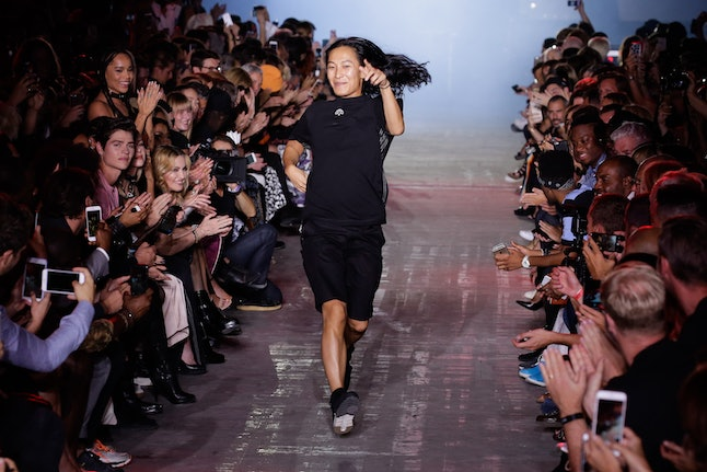 Alexander Wang at the end of his show in 2016