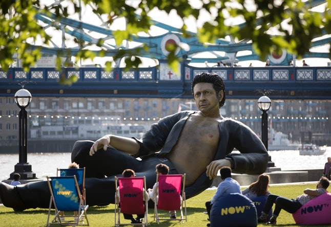 A statue of Jeff Goldblum at Potters Field on Wednesday in London