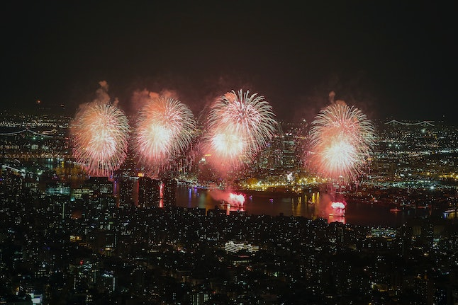 The Macy's 4th of July Fireworks in New York City in 2015.