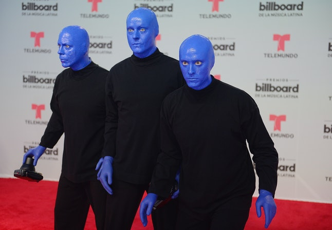 Blue Man Group at the Billboard Latin Music Awards in 2017