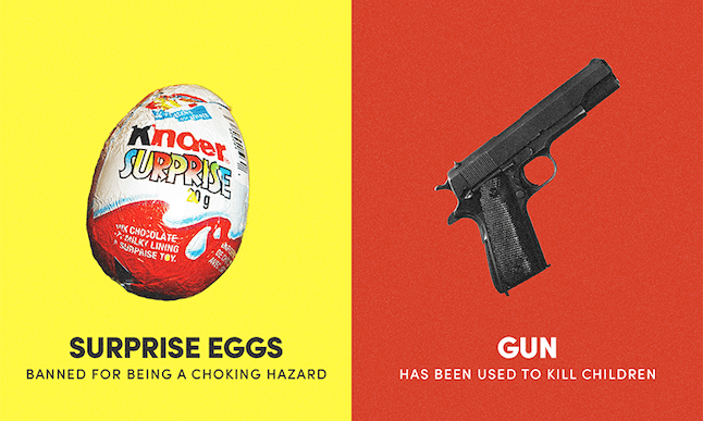 There's a toy inside the chocolate eggs.