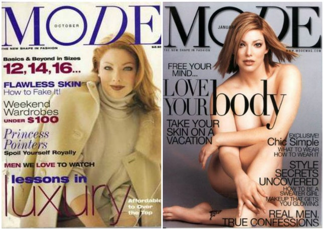 Kate Dillon on the covers of 'Mode' magazine
