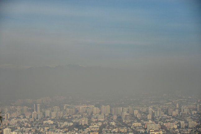 Smog in Santiago, Chile