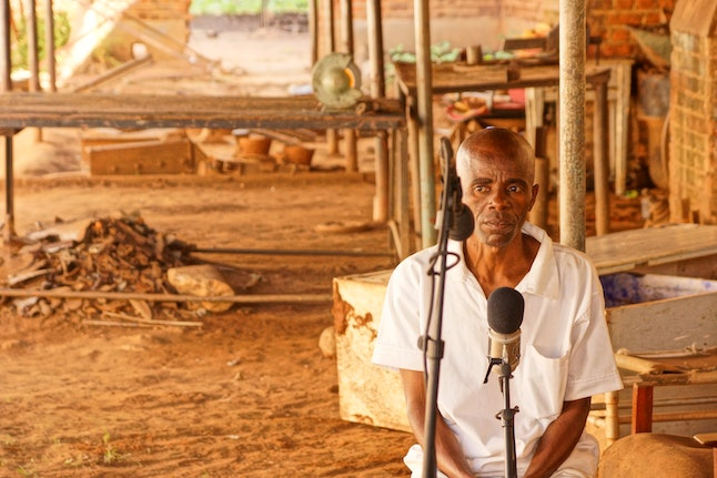 Shot from the recording of the Zomba Prison Project's second album 'I Will Not Stop Singing'