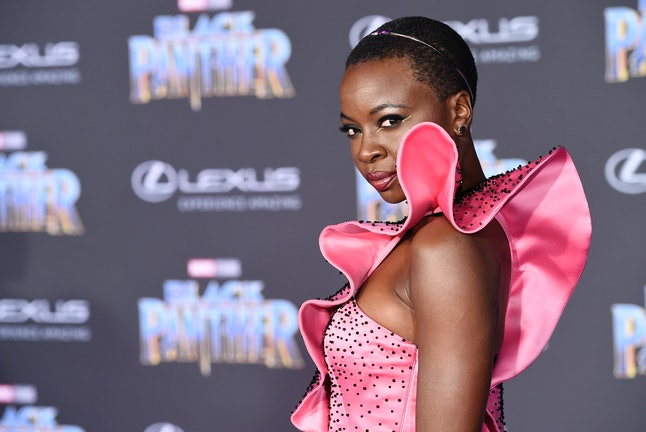 Danai Gurira at the Los Angeles World Premiere of 'Black Panther'