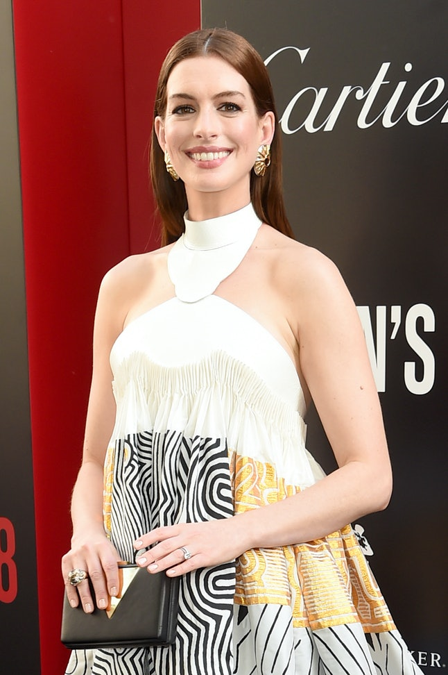 Anne Hathaway attends the world premiere of 'Ocean's 8'