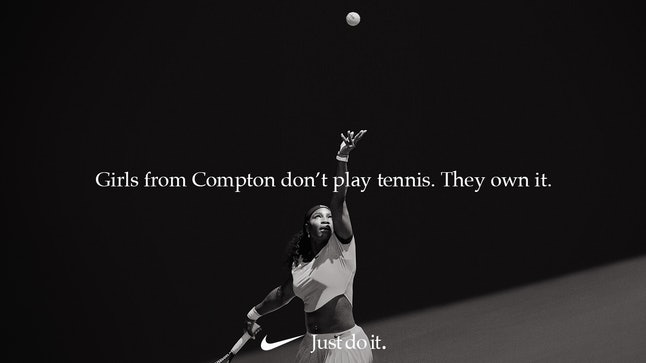 "Serena Williams in Nike's 30th anniversary ""Just Do It"" campaign"