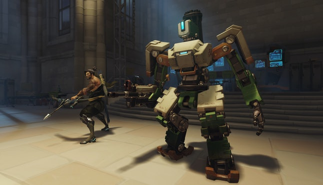 Hanzo and Bastion in 'Overwatch'