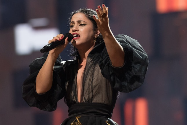 Emel Mathlouthi performing at the Nobel Peace Prize concert in Oslo, Norway, on Dec. 11, 2015.