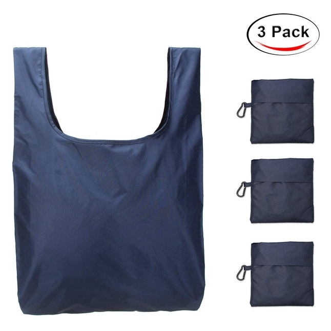 This 3-pack of totes from Amazon costs $10.