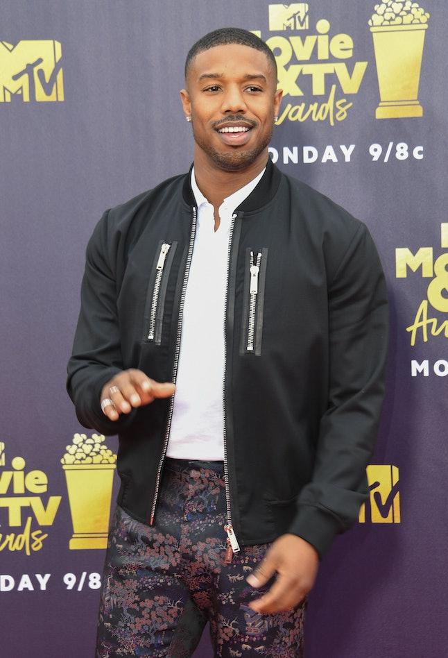 Michael B. Jordan at the 2018 MTV Movie and TV Awards