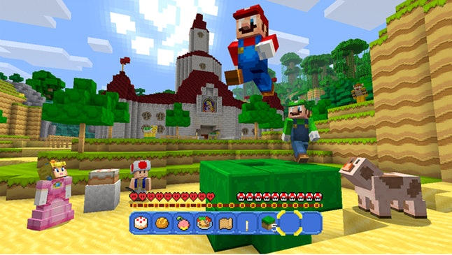 The 'Super Mario' Mash-Up Pack DLC from 'Minecraft'