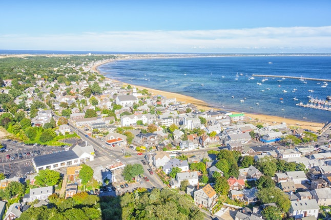 The coastal town of Newport