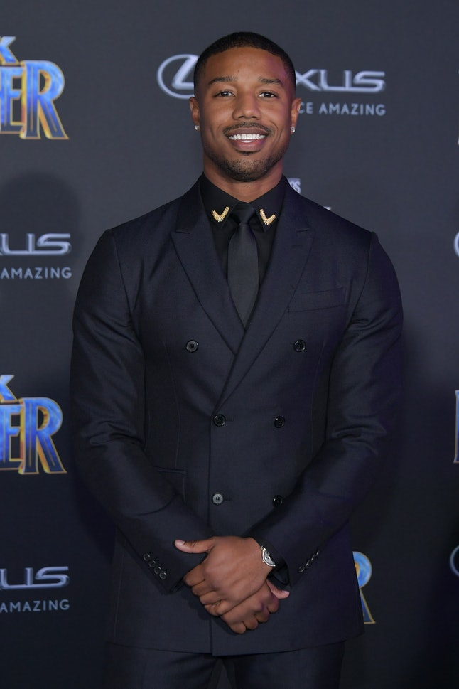 Michael B. Jordan at the Los Angeles World Premiere of 'Black Panther'
