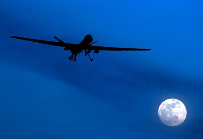 A U.S. Predator drone flies over Afghanistan in 2010.