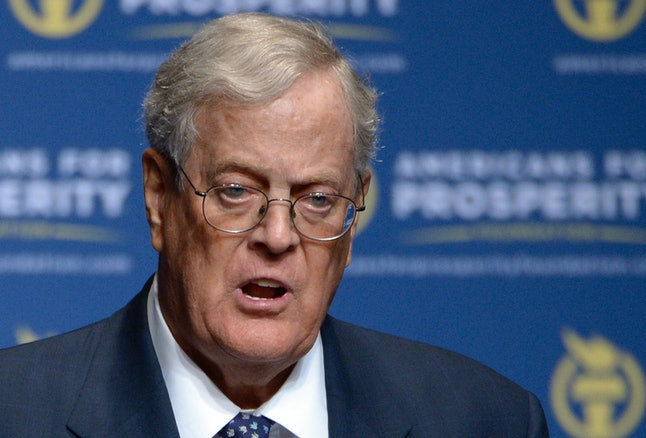 David Koch speaks in Orlando, Florida in 2013. David and his brother Charles have supported efforts opposed to ColoradoCare through their group Americans for Prosperity.