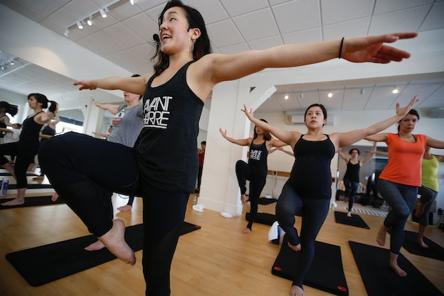 Instructor Tiffany Vo conducts a class at Avant Barre on Small Business Saturday in 2015 in San Francisco.