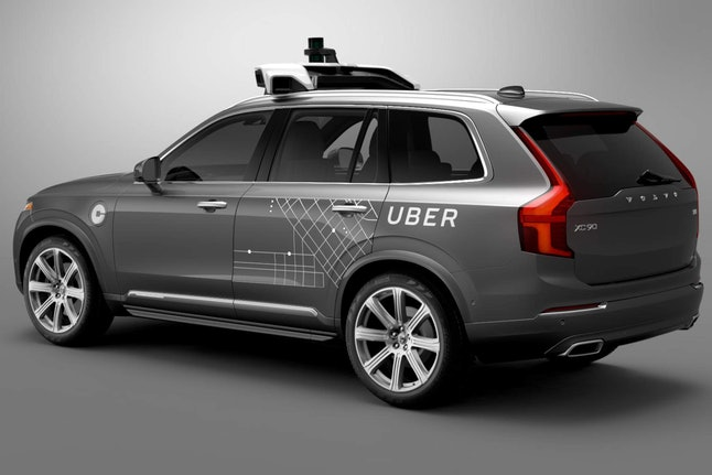 Self-driving Uber Volvo