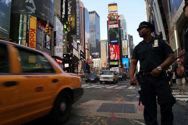 A police officer in New York City's Times Square
