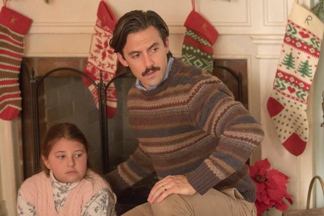 Mackenzie Hancsicsak as 8-year-old Kate and Milo Ventimiglia as Jack